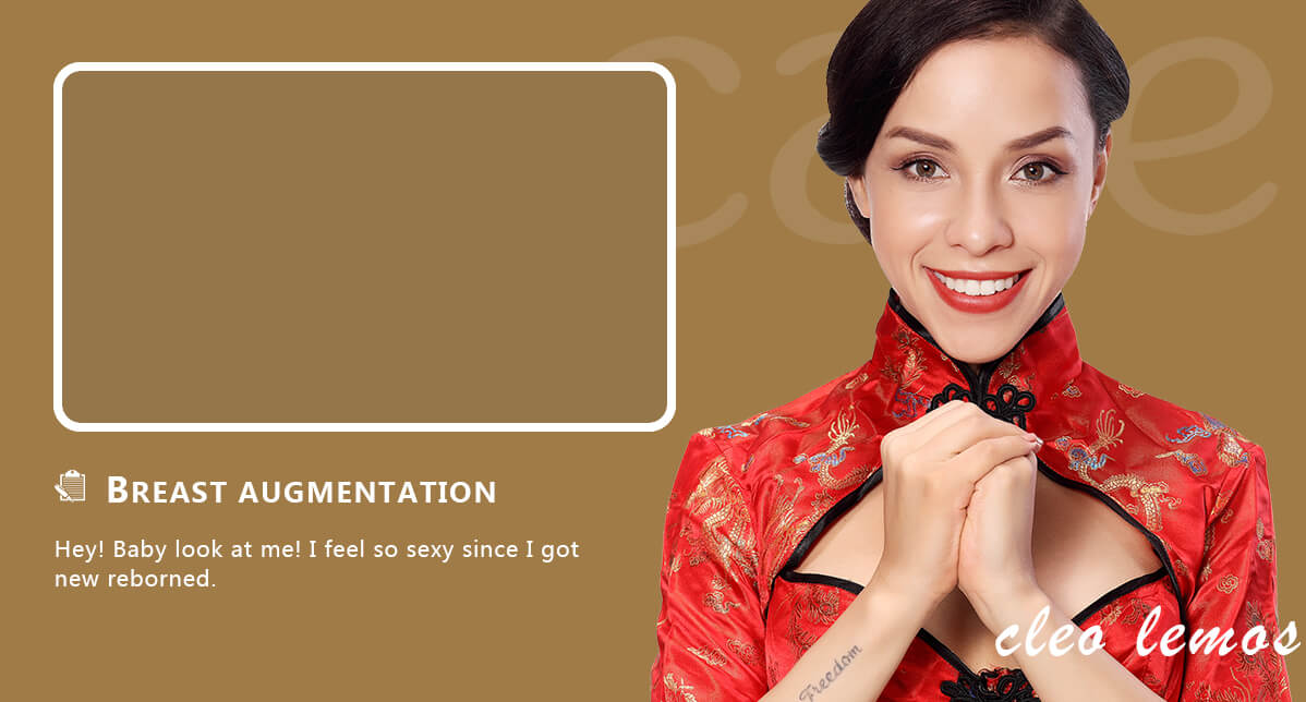 Brazilian girl cleo come to China for breast augmentation surgery
